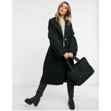 DESIGN belted slouchy coat in black Women Coats 2021 New GYZR382