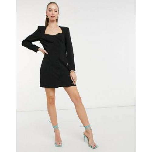 & Other Stories tailored button down mini dress in black Women A Line Dresses high quality HRJV955